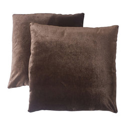 Abbyson Living - Abbyson Living Charisma 18-inch Brown Decorative Pillows (Set of 2) - With an eye-catching,contemporary pattern,this Charisma decorative pillow set is a lovely addition to any home's decor. These throw pillows feature a brown color design on the handwoven cover.