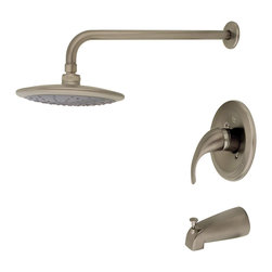 MR Direct - Brushed Nickel 3 Piece Rain Head Shower Set - The 750-BN 3-Piece Rain Head Shower Set is an ADA approved shower set that is available in a brushed nickel, oil-rubbed bronze or chrome finish. This set has a limited temperature stop that prevents scalding when there is a change in water pressure. The 750-BN is pressure tested to ensure proper working conditions and is covered under a lifetime warranty. The rainfall spray head will create a relaxing experience that you will look forward to enjoying daily.