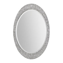 "Ren Wil - Ren Wil MT1414 Sirens 24"" Oval Beveled Wall Mounted Mirror - Features:"