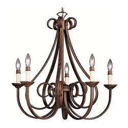 "Kichler - Kichler 2021TZ Dover Single-Tier Candle Chandelier w/5 Lights - 72"" Chain - 2 - Product Features:"