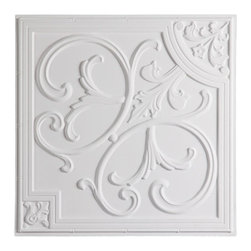 CT-204 Ceiling Tile - White-Sample - Made from UV stabilized .35 mm vinyl thermoplastic.These tiles may be used in a grid system. These tiles are easy to install, easy to clean, stain and water resistant, resource friendly and delivered direct to your door! Please note that there is no minimum order on our in stock ceiling skins, so you may order single tiles if you want to see what they look like before placing a larger order.
