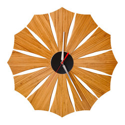 Schmitt Design - Bloom Wall Clock - Everyone loves flowers, and when they never wilt, all the better! This happy clock will eternally bloom on your wall, making a bright impression every time you check the time.