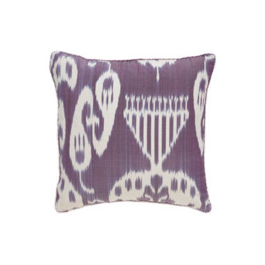 Remy Ikat Pillow from Madeline Weinrib Atelier - Funky cool Ikat pillow with relative muted color.