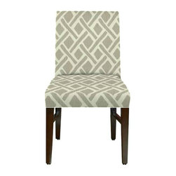 Belle Chaise - Upholstered Accent Chair - A beautiful accent chair that can be used for a desk chair, dining chair, or an accent chair.  Contact grade manufacturing and upholstered with residential fabrics to look beautiful in home or office.
