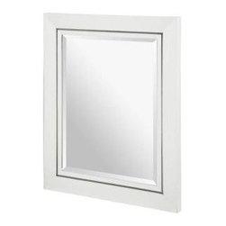 """Xylem - Xylem Manhattan 36 Wall Mirror, White (M-MANHATTAN-36WT) - Xylem M-MANHATTAN-36WT Manhattan 36"""" Wall Mirror, White"""