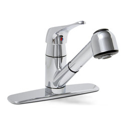 "Premier - Sonoma Lead Free Pull Out Kitchen Faucet - Chrome - Single Lever Handle Pull-Out Kitchen Faucet Chrome Plated Finish 1/2"" IPS Connection."