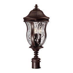 Savoy House - Savoy House KP-5-301-40 Monticello Post Lantern - A celebrated Savoy House family finished in Walnut Patina with Clear Watered glass.