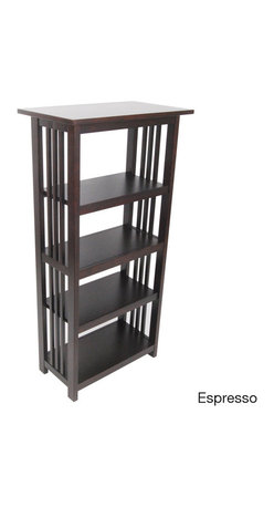 Alaterre - Classic Mission 48-inch Bookcase - This Classic Mission 48-inch Bookcase is handsomely crafted and versatile with many decorating styles. Made of select hardwoods this 4-foot tall bookcase offers four shelves and provides ample storage for books,binders and your favorite home decor.