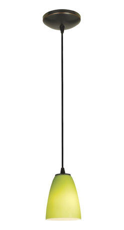 Access Lighting - Access Lighting 28022-BS/LGR Sydney Inari Silk 100W Incand. Contemporary Cord Mi - Elegant lime-green light brings a colorful and vibrant accent to any traditional or modern setting.