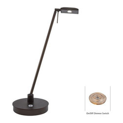 "Kovacs - Kovacs P4326-647 19"" LED Pharmacy Copper Bronze Patina Table Lamp from the Georg - Kovacs P4326-647 LED PharmacyTable LampFeaturing an energy efficient 8 watt LED that illuminates with clean white light and an on/off dimmer for easy control, this lamp will swivel to wherever it is needed. Shedding task oriented light wherever it is needed, this beautiful Chocolate Chrome table lamp will illuminate a novel or important document with equal aplomb.Kovacs P4326-647 Features:"