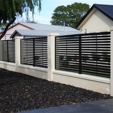 Modern Home Fencing And Gates by Hindmarsh Fencing & Wrought Iron Security Doors