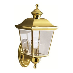 Kichler - Kichler Bay Shore One Light Polished Brass Wall Lantern - This one light wall Lantern is part of the Bay Shore collection and has a polished brass finish. It is outdoor capable.