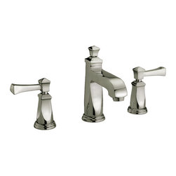 YOSEMITE HOME DECOR - Two Handle Lavatory Faucet - Washerless Cartridge Two Handle, 8 inch widespread Lavatory Faucet  with Pop up Drain Brush Nickel Finish