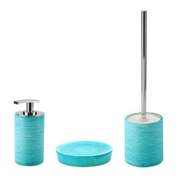 Gedy - Light Blue Free Standing Bathroom Accessory Set - .