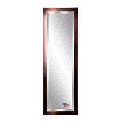 Rayne Mirrors - American Made Shiny Bronze 19 x 58 Slender Beveled Body Mirror - Show some charisma with this attractive industrial style copper bronze tall mirror. The warmth of the bronze compliments the shimmering mirror and makes this design a smart choice for most any style of home decor, in any room. Each Rayne mirror is hand crafted and made to order with American products.  All hardware included for vertical or horizontal hanging, or perfect to lean against a wall.