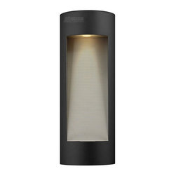 Hinkley Lighting - Hinkley Lighting HK-1664-SK-LED Luna LED Contemporary Outdoor Wall Sconce - Medi - Luna is a modern collection of solid aluminum fixtures offered in a unique combination of contemporary styles, including sleek wall lanterns with a dual light source and decorative reflector. Luna also offers chic pocket wall sconces and compact ceiling m