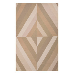 Jaipur Rugs - Flat-Weave Geometric Pattern Wool Blue/Ivory Area Rug ( 8x11 ) - En Casa is the design collection of Cuban born, Queens, NY raised painter and surface designer, Luli Sanchez. This collection is based off of her painterly works of art that capture an organic and moody yet optimistic spirit. Her geometric paintings were truly inspiring for this flatweave collection.
