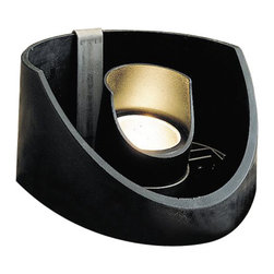 LANDSCAPE - LANDSCAPE MR-16 Outdoor Well Light X-TKB29051 - This Kichler Lighting outdoor wall sconce can be flush-mounted or angled, perfect for outdoor lighting schemes that require various directional uplighting. The textured black finish and heat resistant clear flat glass shade allow it to blend into the background.