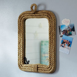 Know Your Ropes Wall Mirror - This mirror adds a fun touch of nautical to a room.