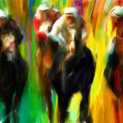 Horse Racing III - Series of Art Pieces About Sports
