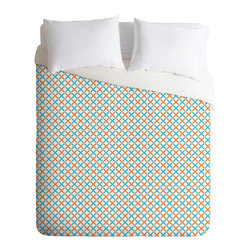 DENY Designs - Tammie Bennett X Check Duvet Cover - Turn your basic, boring down comforter into the super stylish focal point of your bedroom. Our Luxe Duvet is made from a heavy-weight luxurious woven polyester with a 50% cotton/50% polyester cream bottom. It also includes a hidden zipper with interior corner ties to secure your comforter. it's comfy, fade-resistant, and custom printed for each and every customer.
