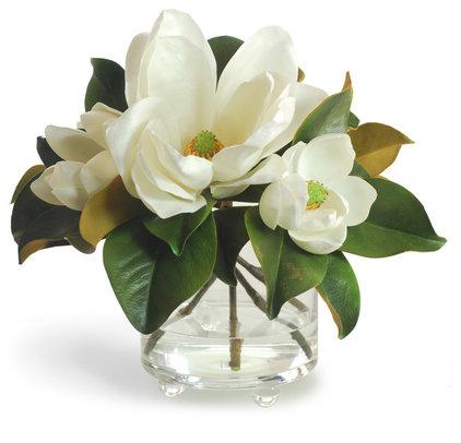 Contemporary Plants Timeless White Magnolia Centerpiece