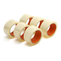 Set of 6 Packing Tape - Crystal-clear tape makes packing almost pleasant. Perfect for artfully tacking up your favorite memos, securing your takeout menus, or, fine, sealing a box.Ships in: 1-2 business days