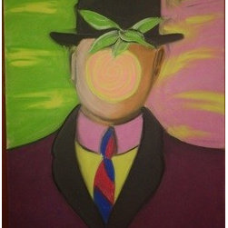 Son Of Man Master Study (Original) by Richard Powell - This is a master study I did back in college of Ren� Magritte's Son of man. Cropped and color change