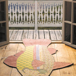 Eclectic rugs find area rugs kitchen rugs and round rugs for Mackenzie childs fish rug