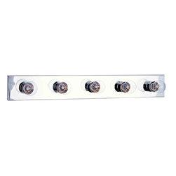 Maxim Lighting - Maxim Lighting 4455PC Essentials Polished Chrome 5 Light Vanity - 5 Bulbs, Bulb Type: 60 Watt Incandescent