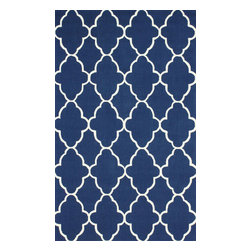 nuLOOM - Contemporary 5' x 8' Royal Blue Hand Hooked Area Rug Trellis HK86 - Made from the finest materials in the world and with the uttermost care, our rugs are a great addition to your home.