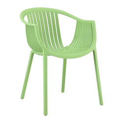 Modway - Hammock Dining Armchair in Green - Retreat back to the outdoors with the splendid embrace of the Hammock chair. Made from durable molded plastic, Hammock is suitable for all weathers and conditions. Notable for its distinctive woven pattern and wide arching support, enjoy the festivities while snugly seated in this contemporary chair.