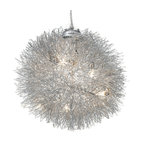 Nuevo Living - Filament Pendant Lamp - Why just turn on the light when you can turn on the quirky charm? This unusual fixture — a textural ball fashioned of aluminum wire — is the perfect ceiling centerpiece for your favorite eclectic setting.