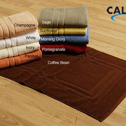 Calcot - Calcot Supima Bath Mats (Set of 2) - Youre certain to appreciate these absorbent cotton bath mats each time you emerge from the shower. Soft underfoot,these high quality bath mats are available in a number of popular colors to match or contrast with your bathrooms decor.
