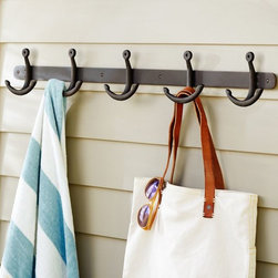 Anchor Row of Hooks - Keep your mudroom or entryway organized with these nautical-inspired hooks. How fun for a lakefront cottage!