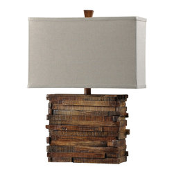 Stylecraft - Stylecraft L31878Ds Restoration Wood Look Table Lamp - Stylecraft L31878DS Restoration Wood Look Table Lamp