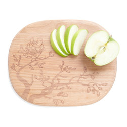 Flock on Wood Cutting Board - After seeing this cutting board, I'm convinced no one really needs to have anything boring in the kitchen. Beautify the space even with the smallest details.