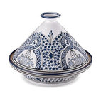 Tunisian Hand-Painted Tagine - This beautiful Tagine will change the way you think about cooking as well as make a real statement at the table or on the shelf. Moist delicious Tagines are easy to prepare and healthy.