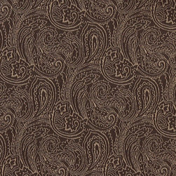 Brown, Traditional Abstract Paisley Designed Woven Upholstery Fabric By The Yard - This material is an upholstery grade jacquard fabric. It is lightweight, but is rated heavy duty and upholstery grade.