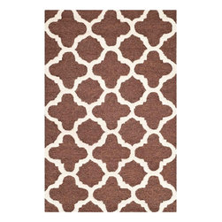 """Safavieh - Hugo Hand Tufted Rug, Dark Brown / Ivory 2'6"""" X 4' - Construction Method: Hand Tufted. Country of Origin: India. Care Instructions: Vacuum Regularly To Prevent Dust And Crumbs From Settling Into The Roots Of The Fibers. Avoid Direct And Continuous Exposure To Sunlight. Use Rug Protectors Under The Legs Of Heavy Furniture To Avoid Flattening Piles. Do Not Pull Loose Ends; Clip Them With Scissors To Remove. Turn Carpet Occasionally To Equalize Wear. Remove Spills Immediately. Bring classic style to your bedroom, living room, or home office with a richly-dimensional Safavieh Cambridge Rug. Artfully hand-tufted, these plush wool area rugs are crafted with plush and loop textures to highlight timeless motifs updated for today's homes in fashion colors."""