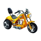 Big Toys - Red Hawk Motorcycle 12V Bike - Features: -Red Hawk Motorcycle 12V. -Easy push button throttle with sissy bar. -Riding battery operated vehicles will help develop your child's coordination at an early age. -Included: Charger, sounds, headlight. -Throttle type: Button on hand grip. -Braking System: Releasing the throttle allows bike to stop quickly. -Material of Body: ABS plastic. -Suitable for ages 3-6 years old. -Assembly: 70% assembled. -Warranty: 30 days parts replacement. Specifications: -Motor(s): 1 x 12 volt 25 watt. -Batteries: 1 x 12 Volt 10 AMP rechargeable battery. -Speed: 4-5 mph. -Suggested max weight: 88 lbs.