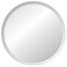 """Round Frameless 42"""" Wide Beveled Mirror"""