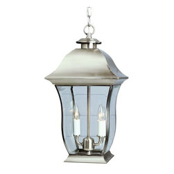 Trans Globe Lighting - Trans Globe Lighting 4975 Two Light Down Lighting Outdoor Pendant from the Outdo - Two light down lighting outdoor pendant featuring beveled glassRequires 2 60w Candelabra Base Bulbs (Not Included)