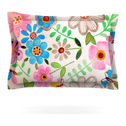 """Kess InHouse - Louise Machado """"The Garden"""" Pillow Sham (Cotton, 30"""" x 20"""") - Pairing your already chic duvet cover with playful pillow shams is the perfect way to tie your bedroom together. There are endless possibilities to feed your artistic palette with these imaginative pillow shams. It will looks so elegant you won't want ruin the masterpiece you have created when you go to bed. Not only are these pillow shams nice to look at they are also made from a high quality cotton blend. They are so soft that they will elevate your sleep up to level that is beyond Cloud 9. We always print our goods with the highest quality printing process in order to maintain the integrity of the art that you are adeptly displaying. This means that you won't have to worry about your art fading or your sham loosing it's freshness."""