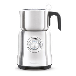 Breville - Breville Milk Café Electric Frother - Create rich, creamy, perfectly frothed milk for your favorite coffee drinks with this easy-to-use fully automatic frother from Breville. An induction heating system allows it to reach temperature rapidly, efficiently and consistently.