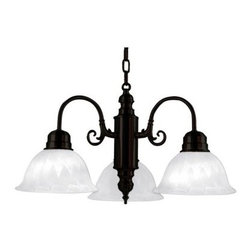 Yosemite Home Decor Manzanita 3-Light Chandelier with Shade - 24W in. - Venetian - Sophisticated yet laid back. The Yosemite Home Decor Manzanita 3-Light Chandelier with Shade - 24W in. - Venetian Bronze transforms the look of your dining room or kitchen. This handsome chandelier has three tea-stained satin glass shades that cast light downward. Its curvy, saloon-inspired metal fixture and hanging chain are finished in Venetian bronze.About Yosemite Home Decor With a variety of products in a variety of styles, Yosemite Home Decor strives to provide a solution for every home design need. Based in Fresno, Calif., Yosemite specializes in high-quality lighting fixtures, faucets, and related home decor products for commercial, builder, and residential markets.
