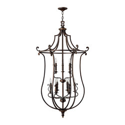 Hinkley Lighting - Hinkley Lighting 4259OB Hanger 9 Lt. Chandelier - Hinkley Lighting 4259OB Hanger 9 Lt. Chandelier