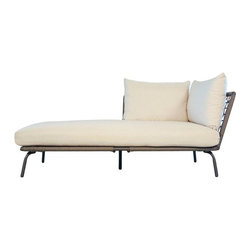 Lloyd Flanders - Lloyd Flanders SoHo All-Weather Wicker Right Arm Chaise Lounge - 207425-092 - Shop for Chaise Lounges from Hayneedle.com! Lay back and soak up the summer sun in the stylish Lloyd Flanders SoHo All-Weather Wicker Right Arm Chaise Lounge. Constructed with a fully welded aluminum frame this handsome patio chaise lounge features an open-weave vinyl material that will not fade rot or crack from exposure to harsh weather conditions. The relaxing Comfort Plush cushions are fitted with internal spring bond premium cores with dense foam for a seat you can sink into while you soak up the summer sun.Sink into the low-resting seat and you'll find yourself surrounded by the large plush cushions. Resting just 10 inches off the ground this patio chaise lounge is the perfect way to relax after a long day. The mellow stone finish and canvas cushions easily blend with any existing decor and create a calming atmosphere to enjoy with friends and family.About Lloyd/FlandersCarrying on the traditions of Marshall B. Lloyd Lloyd/Flanders brings the sophistication of timeless furniture designs to a sophisticated modern audience. Using modern production processes and materials these classic styles are faithfully rendered in a way that can be enjoyed by customers anywhere with high-quality construction and reliable all-weather designs.