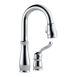 Delta - Delta 9978-DST Leland Single Handle Bar/Prep Faucet (Chrome) - Delta 9978-DST Leland Collection offers a timeless design  with elements inspired by a tea pot  with a perfect blend of form and function. The Delta 9978-DST is a one handle Bar Faucet in Chrome.