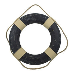 """Handcrafted Model Ships - Vintage Blue Decorative Lifering 20"""" - Life Ring - This Vintage Blue Decorative Lifering 20"""" will compliment any beach home perfectly. Our authentic rope used to wrap around the nautical lifering brings this beach bedroom accessory to life and will light up your beach living room, beach wedding decorations or beach themed party. Our Life ring decor actions are the perfect choice for any beach setting. We offer over 100 unique decorative life rings sized and priced for everyone's beach wall decor needs. Life ring decor is available in various sizes and styles such as lifering clocks, lifering mirrors, antique life preserver rings and of course the classic traditional decorative life rings, ranging in sizes from 6 to 30 inches."""